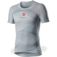 Castelli Pro Mesh Short Sleeve Baselayer - S - Silver Grey