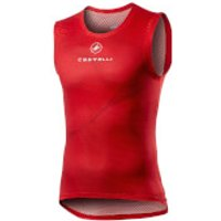 Castelli Pro Mesh Sleeveless Baselayer - XL - Red