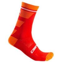 Castelli Trofeo 15 Socks - L/XL - Red