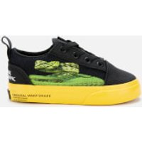 Vans X National Geographic Toddlers' Old Skool Elastic Lace Trainers - Photo Ark - UK 5 Toddler