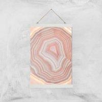 Coral Quartz Giclee Art Print - A3 - White Hanger - Coral Gifts