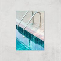 Vintage Swimming Pool Giclee Art Print - A4 - Print Only - Pool Gifts