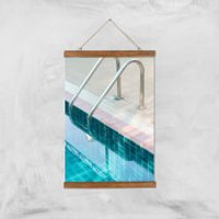 Vintage Swimming Pool Giclee Art Print - A3 - Wooden Hanger - Pool Gifts
