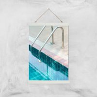 Vintage Swimming Pool Giclee Art Print - A3 - White Hanger - Pool Gifts