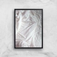 Bed Giclee Art Print - A2 - Black Frame - Bed Gifts