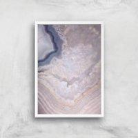 Indigo Lull Giclee Art Print - A4 - White Frame - Indigo Gifts