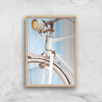 Rusty Bicycle Giclee Art Print - A4 - Wooden Frame - Bicycle Gifts