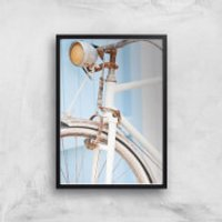 Rusty Bicycle Giclee Art Print - A4 - Black Frame - Bicycle Gifts