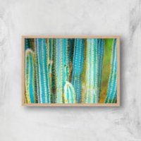 Turquoise Ultra Giclee Art Print - A3 - Wooden Frame