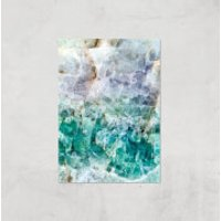 Turquoise Quartz Giclee Art Print - A3 - Print Only - Turquoise Gifts