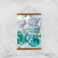 Turquoise Quartz Giclee Art Print - A3 - Wooden Hanger - Turquoise Gifts