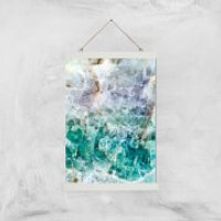 Turquoise Quartz Giclee Art Print - A3 - White Hanger - Turquoise Gifts