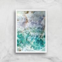 Turquoise Quartz Giclee Art Print - A2 - White Frame