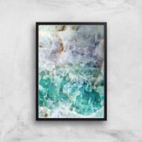 Turquoise Quartz Giclee Art Print - A2 - Black Frame - Turquoise Gifts