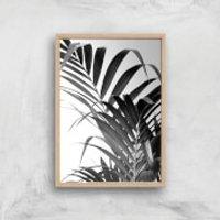 Palm Life Giclee Art Print - A4 - Wooden Frame