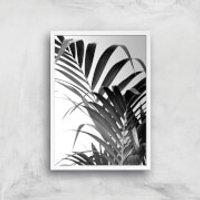 Palm Life Giclee Art Print - A4 - White Frame - Life Gifts