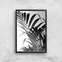 Palm Life Giclee Art Print - A4 - Black Frame - Life Gifts