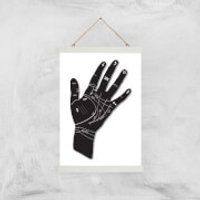 Palmistry Hand Symbols Giclee Art Print - A3 - White Hanger