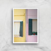 Holiday Home Giclee Art Print - A4 - White Frame - Holiday Gifts