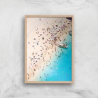 By The Sea Giclee Art Print - A3 - Wooden Frame - Sea Gifts