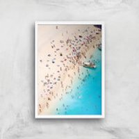 By The Sea Giclee Art Print - A2 - White Frame - Sea Gifts