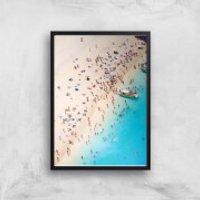 By The Sea Giclee Art Print - A2 - Black Frame - Sea Gifts