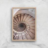 Spiralling Giclee Art Print - A4 - Wooden Frame - Wooden Gifts