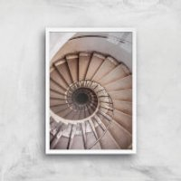 Spiralling Giclee Art Print - A4 - White Frame - Frame Gifts