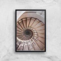 Spiralling Giclee Art Print - A4 - Black Frame - Frame Gifts
