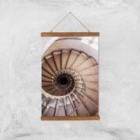 Spiralling Giclee Art Print - A3 - Wooden Hanger - Wooden Gifts
