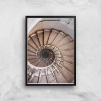 Spiralling Giclee Art Print - A3 - Black Frame - Frame Gifts