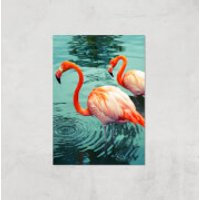 Flamingo Giclee Art Print - A2 - Print Only - Flamingo Gifts
