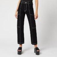 Simon Miller Women's Trouser Cargo Jeans - Night Hour/White Stitch - 27