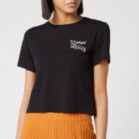 Simon Miller Women's Rondo T-Shirt - White/Black Embroidery - S