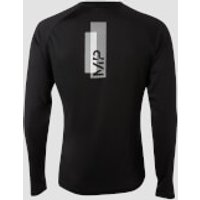 Image of Myprotein MP Men's Printed Training Long Sleeved Top - Black - M