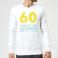60 Twenty One Thousand Nine Hundred Days Old Sweatshirt - White - XXL - White