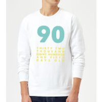 90 Thirty Two Thousand Eight Hundred And Fifty Days Old Sweatshirt - White - 4XL - White