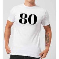 80 Men's T-Shirt - White - S - White