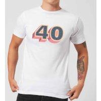 40 Dots Men's T-Shirt - White - 3XL - White