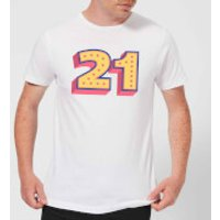 21 Dots Men's T-Shirt - White - XXL - White