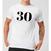 30 Men's T-Shirt - White - XXL - White
