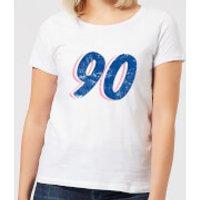 90 Distressed Women's T-Shirt - White - XL - White