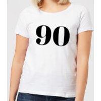 90 Women's T-Shirt - White - XL - White