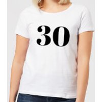 30 Women's T-Shirt - White - XS - White
