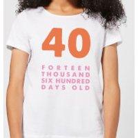 Birthday Ranges-45 Women's T-Shirt - White - XL - White