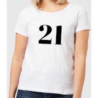 21 Women's T-Shirt - White - XS - White