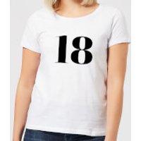 18 Women's T-Shirt - White - 4XL - White