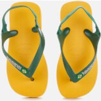 Havaianas Toddlers' Brasil Logo II Flip Flops - Banana Yellow - EU 25-26/UK 8-9 Toddler