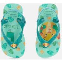 Havaianas Toddlers Disney Classics II - Simba Flip Flops - Green Dew - EU 23-24/UK 7 Toddler