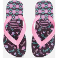 Havaianas Kids' Flores Flip Flops - Aubergine - EU 29-30/UK 12 Kids